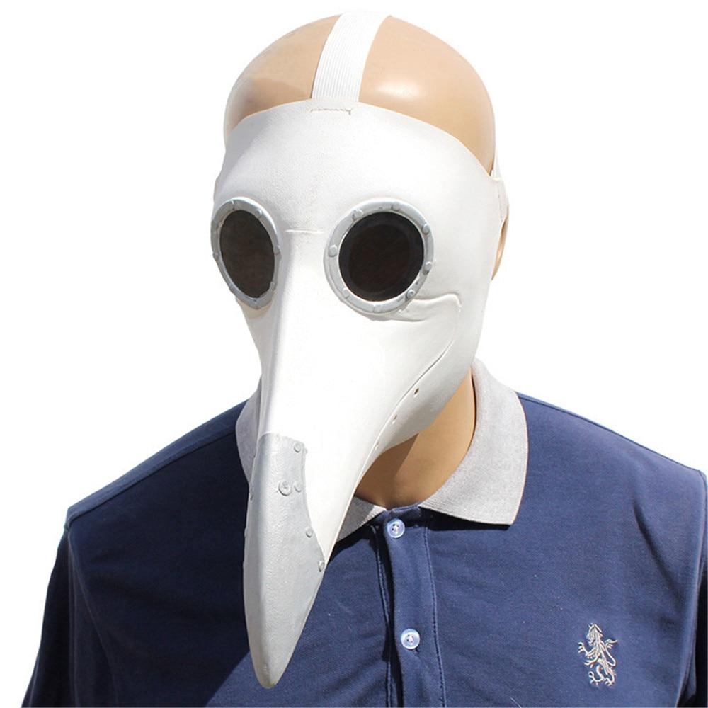Чумной доктор Костюмы для косплея в стиле стимпанк Маска Птицы костюм необычное латексное платье маски вечеринка Хэллоуин - Цвет: Style 2