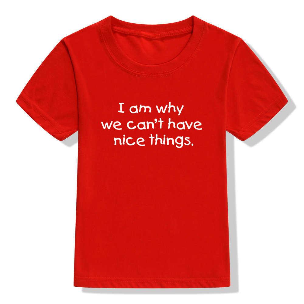 IK Ben Waarom Kunnen We Niet Hebben Mooie Dingen Zomer Nieuwe Baby Meisjes T Shirts Kids TShirts Kinderen Zomer Tops meisje Casual Tshirt