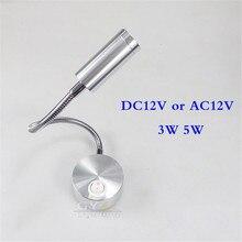 DC12V AC12V led wall lamp 3W/5W LED boat lights industrial lathe machine tool lights goose neck adjustable task working lighting