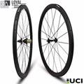2017 Yuan'an wheelsets 25mm width 38mm depth Novatec D711Hub tubeless carbon road bike wheels with pillar 1432 spoke