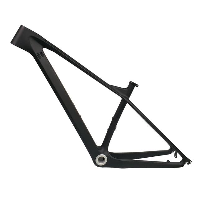 2019 27.5er 15 17 19 פחמן מסגרת אופני הרי מירוץ פחמן MTB אופניים מסגרת דחף סופר אור BSA BB30 PF30 2 שנה אחריות