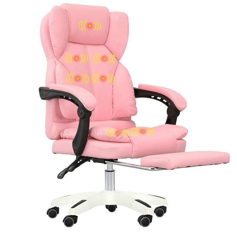 Fashion Computer Chair Smooth Curve Massage Chair Home
