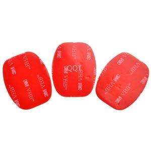 Image 4 - QQT 50 PcsสำหรับGopro Hero 5 4 3 + 3 2 SJ4000 สีแดง 3 M VHBกาวสติกเกอร์ 25 Curve 25 แบนกาวเทปติดตั้งหมวกนิรภัย