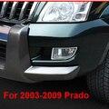 ABS Cromado Cubierta de La Lámpara Antiniebla Delantera Trasera Para Toyota Land Cruiser Prado FJ 120 2003-2009 Accesorios