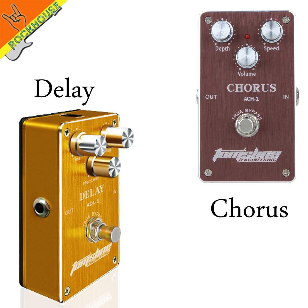 AROMA Effect Pedals Package sales classic chorus and Analog delay guitar effect pedal integrant pedals for player free shipping light weight aroma ach 3 mini chorus electric guitar effect pedal guitar parts and accessories