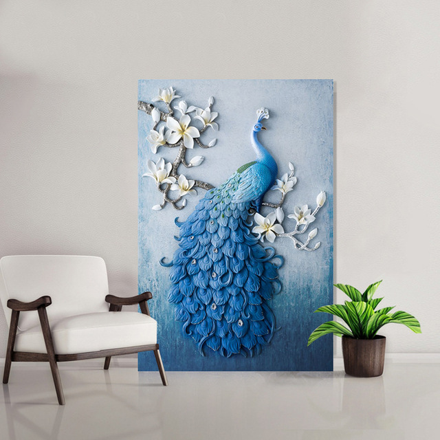 5D DIY Diamond Painting Peacock Birds Amp Flower Full Round