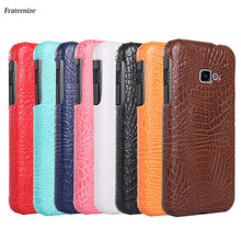 Hard Leather Case For Samsung Gaxaly Xcover 4 3 J7 DUO Max C5 C7 C9 Pro C8 C10 S6 S7 Edge Plus Vintage Crocodile Back cover capa(China)