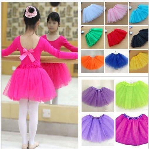 Baby Girls Kids Child Tutu Ballet Skirt Up Tutus Dance Costume Party Short Skirt Color Cute Girl Princess Skirts