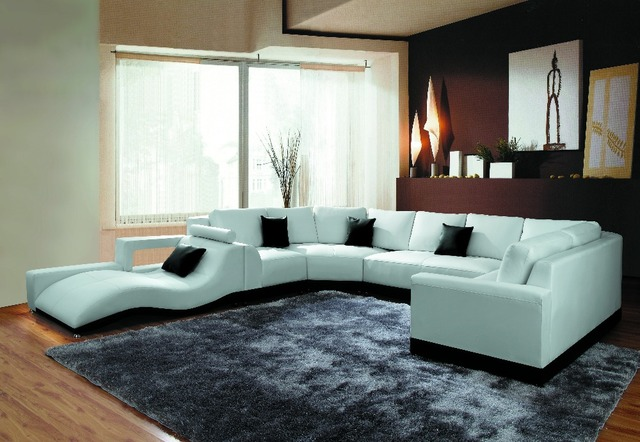 Tb1005 Modern Living Room Furniture Corner Sofa Set Leather