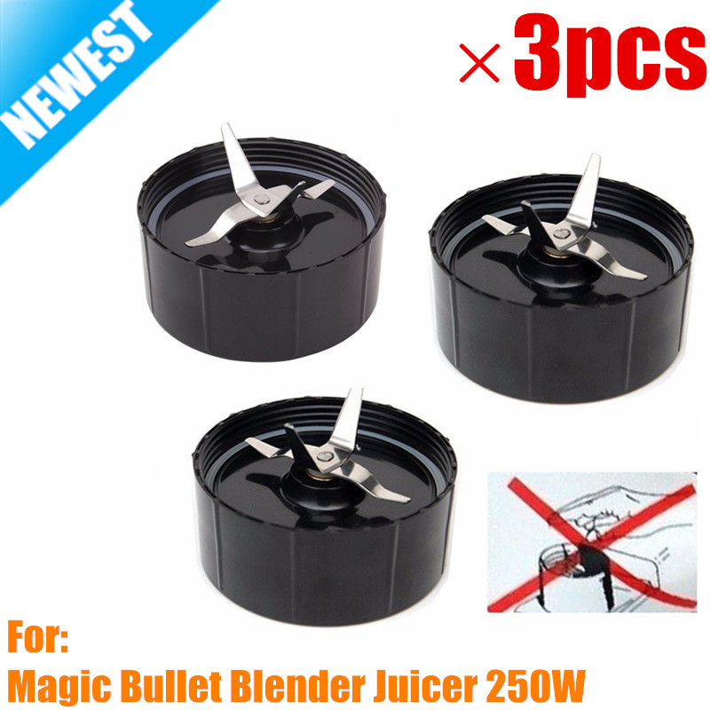 3 Pack New Replacement Household Cross Blades With Gaskets Part For The Magic Bullet Blender Juicer Mixer 250W SA081