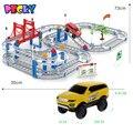Becky Nueva Venta Caliente 3D niños juguetes regalos festivos de Dos capas espiral de Pista de la Montaña Rusa de Juguete Coche de Carril Eléctrico para Niño regalo
