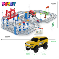 Becky New Hot Sell 3D Kids Toys Festive Gifts Two Layer Spiral Track Roller Coaster Toy
