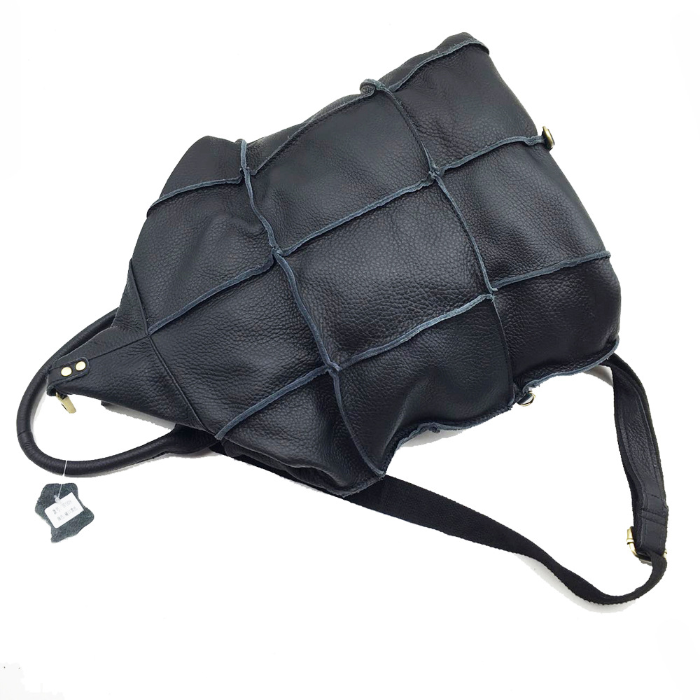 AETOO Brand original leather backpack female travel backpack patchwork the first layer of leather shoulder bag
