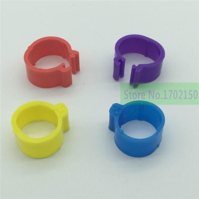 200 pcs Chicken rings Poultry foot ring 1.8cm diameter pheasant Duck Bird Poultry Management logo