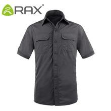 Rax Quick Dry Sports Shirt Men Men Outdoor Shirts Climbing Shirt Short Sleeve Camping Anti-UV Quick Dry Mens Outdoro Shirts