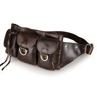 Fashion Genuine fanny pack men for storage Phone Pouch Sport Bum Waist Bag