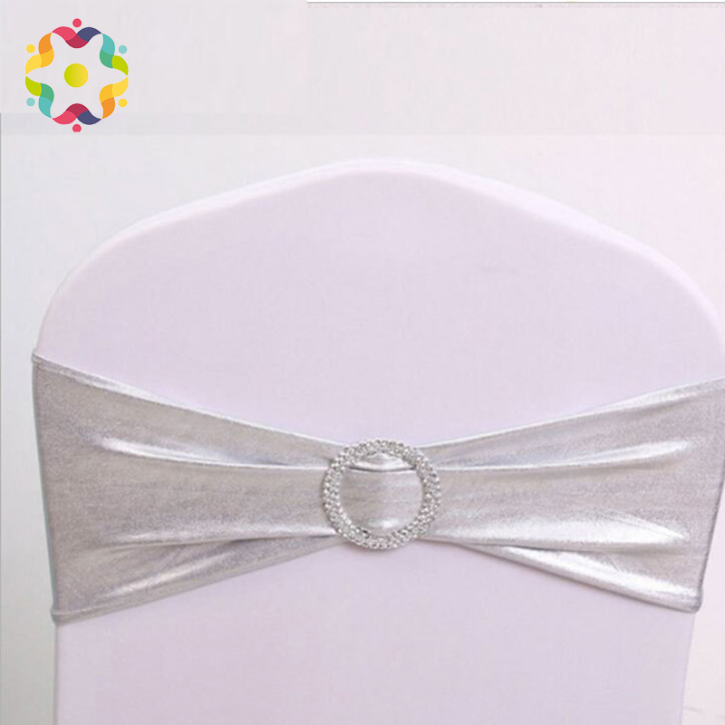 ZJFC 100Pcs/Lot Spandex Chair Sashes Wedding Chair Cover Sash Bands Chair Cover with Bows Banquet Party Birthday Chair DecorZJFC 100Pcs/Lot Spandex Chair Sashes Wedding Chair Cover Sash Bands Chair Cover with Bows Banquet Party Birthday Chair Decor