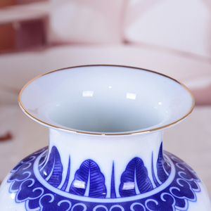 Image 3 - Сине белая керамическая ваза, фазан, фарфоровый цветок, старинная китайская фигурка, ваза с узором истории, ручная работа, цзиндэчжэнь, цветочные вазы