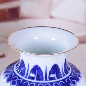 Image 3 - Blue and White Ceramic Vase Pheonix Porcelain Flower Ancient Chinese Figure Story Pattern Vase Handmade Jingdezhen Flower Vases