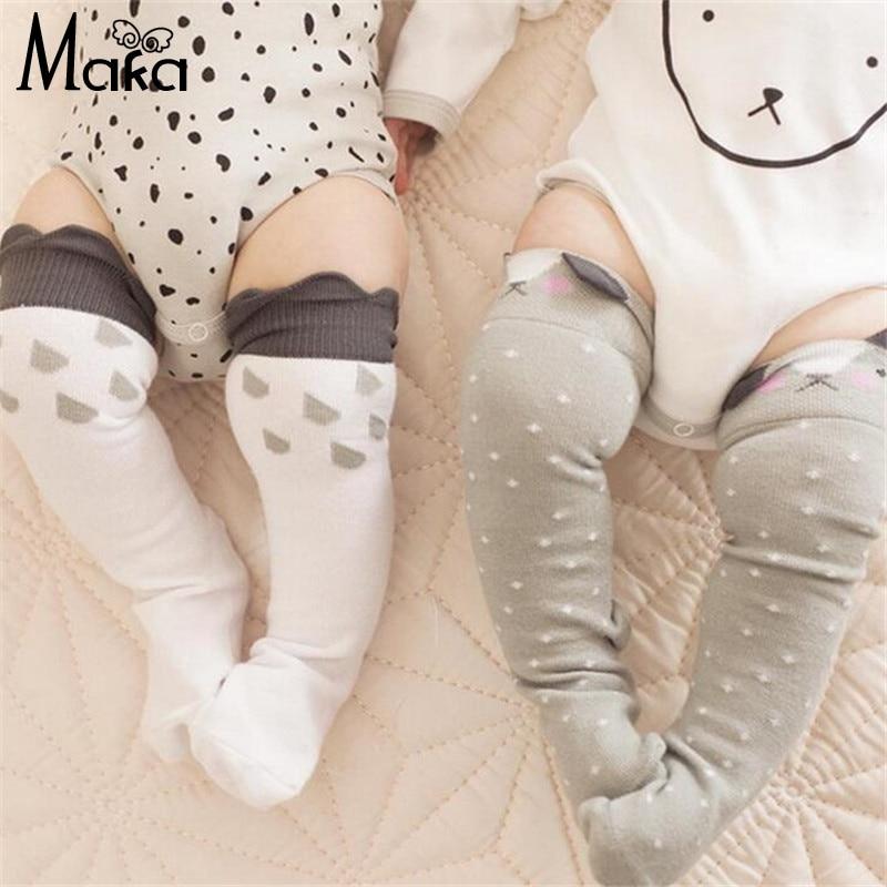 a08c8baa6 Fox Clouds Cartoon Socks for Baby Boys Girls Toddler Kids Knee High Tube  Sock Cotton Soft Infant Kawaii Socks for Winter Autumn