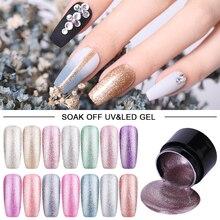 LEMOOC 5ml Hybrid Varnishes Gel Nail Polish Set Glitter Platinum Painting Nails Art Poly UV Gellak Top Base Primer For Manicure