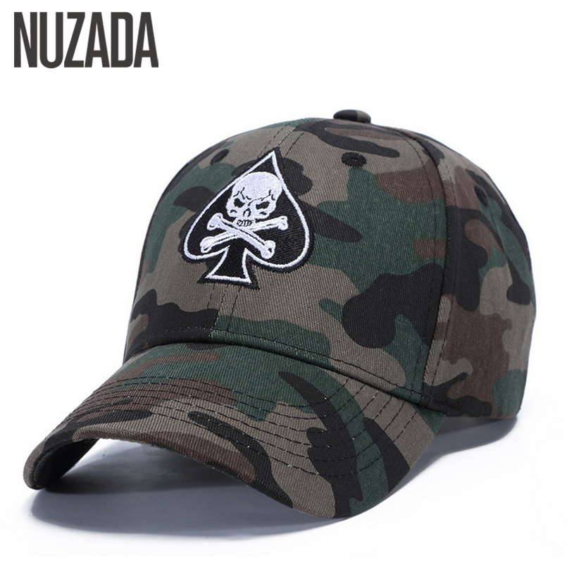 Brand NUZADA Spring Summer Autumn Baseball Cap For Men Women Couple Hats Bone Snapback Embroidery Camouflage Caps Adjustable gold embroidery crown baseball cap women summer cap snapback caps for women men lady s cotton hat bone summer ht51193 35