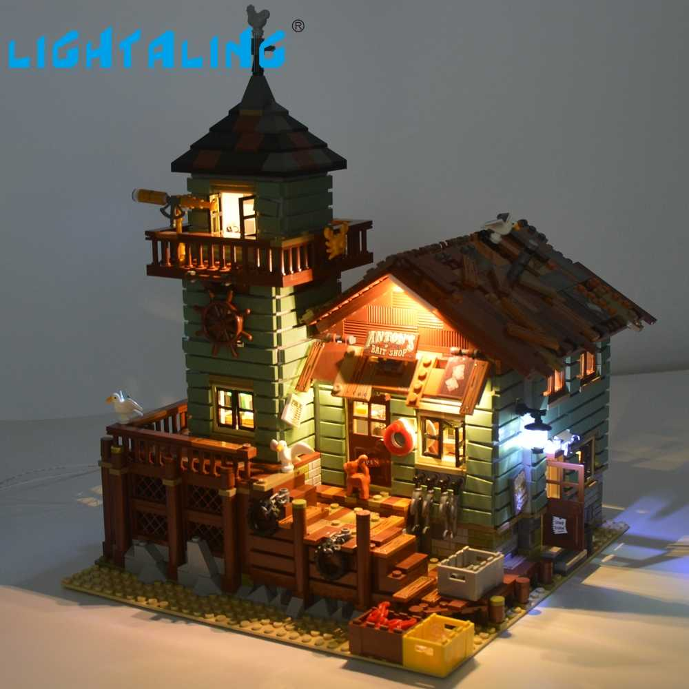 Lightaling LED Set (Only Light Set) For Old Fishing Store Building Model Compatible with 21310