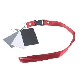 Image 1 - 3 in 1 Digital Kamera Weiß Schwarz Grau Balance Karten Grau Karte 18 Grad S Größe mit Neck Strap Fotografie für Digital Kameras