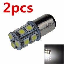 2 шт. S25 1157 13 светодиодный SMD 5050 P21/5 Вт BAY15D автомобиля задний фонарь стоп-сигнал заднего хода лампочки белого DC 12V 24V 13SMD 13 светодиодный
