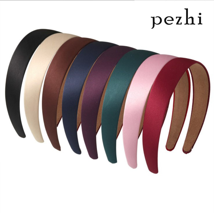 Retro Simple Wide Headband Ribbon cloth art Hairband Women 3cm DIY Covered Hair Accessories Multicolor Headpieces boho   Headwear
