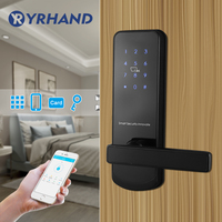 Black Bluetooth WiFi Smart Electronic Door Lock Keypad Mortise Door Lock For Home Airbnb House Apartment with App Remote Control