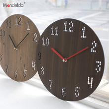 Mandelda Wall Clock  Wooden Modern Design Pendule Murale Decorative Watches Home Digital for Living Room