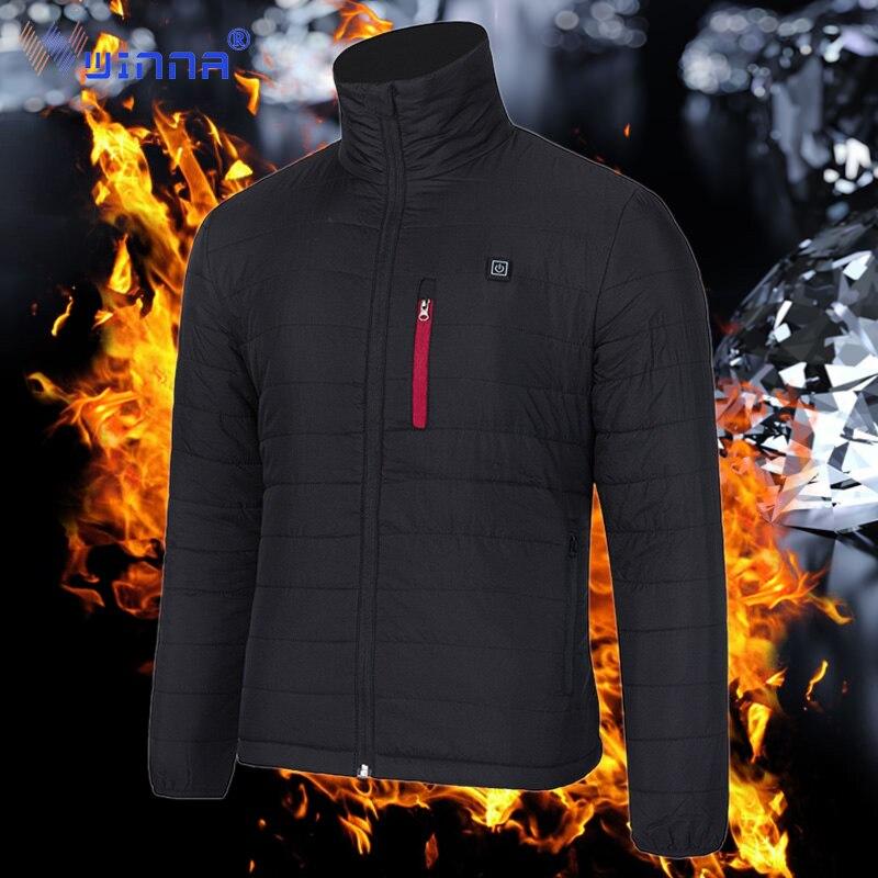 Unisexe électrique chauffage veste pour hommes et femmes hiver extérieur Ski pêche équitation garder au chaud manteaux avant et arrière Zone de chauffage Parka