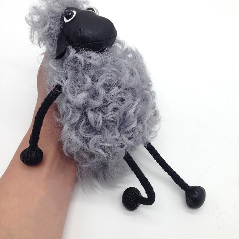 2017 New Real Wool Fur Lamb Pendant Car Key Bag Ornaments Hair Sheep Plush Cartoon Bag Pendant Pendant