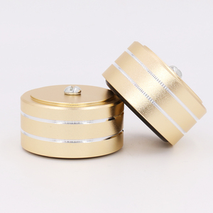 Image 5 - Gold Anodized Mini Solid Aluminum Feet Isolation Pad For DAC CD Turntable Radio AMP CNC Machined With non slip