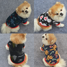 1PC Hot High Quality Dog Clothes Jacket Puppy Hoodie Christmas Fleece Shirt Keep Warm