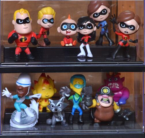 12pcs/set 4-8cm Action Figure The Incredibles 2 Movie Super Man Family Cute Doll Children Kids Toys Collection Birthday Gift Unequal In Performance