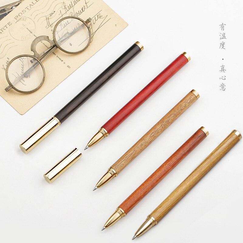 ARTISAN Metallic Brass Gel Pen Wood Signature Pen Black Pen High-grade Business Mens Gift 1PCSARTISAN Metallic Brass Gel Pen Wood Signature Pen Black Pen High-grade Business Mens Gift 1PCS
