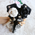 Kisscase girly case para iphone 7 7 plus de lujo flor de la perla colgante ultra thin tpu suave del teléfono de la contraportada para iphone 7 7 plus