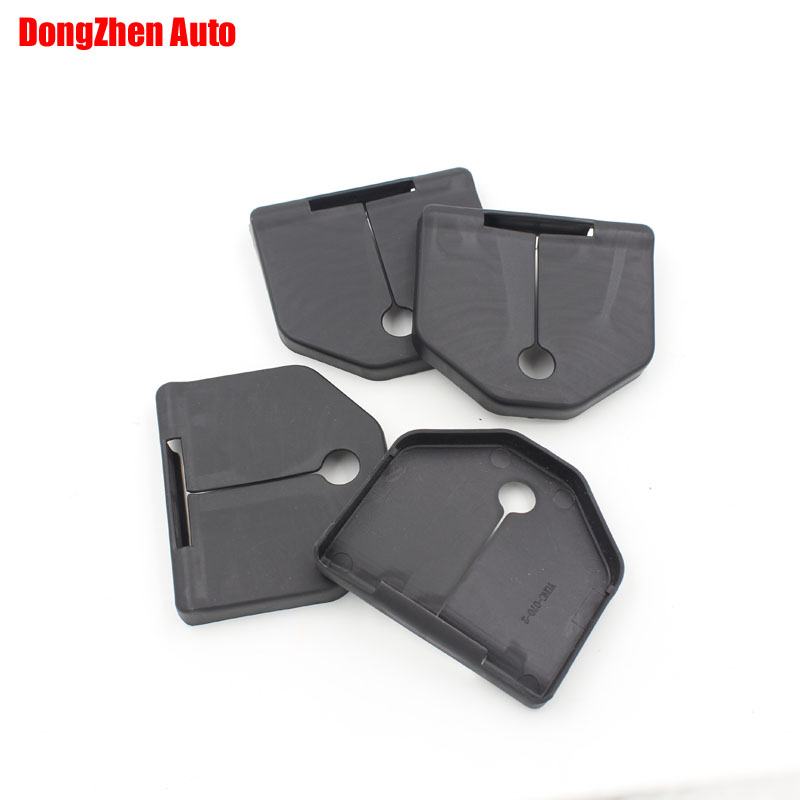 1set 4pcs Car door lock protecting cover Anti-corrosive Exterior Auto accessories For Vo ...