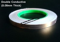 25mm 30M 0 08mm Thick Single Glue Two Face Conductive Copper Electromagnetic Wave Shield Foil Tape