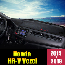 For Honda HRV HR-V Vezel 2014 2015 2016 2017 2018 2019 LHD/RHD Car Dashboard Cover Mats Pads Anti-UV Case Carpets Accessories 2 pcs diy three style engineering plastics and aluminum welcome pedal cover case stickers for honda vezel hrv parts accessories