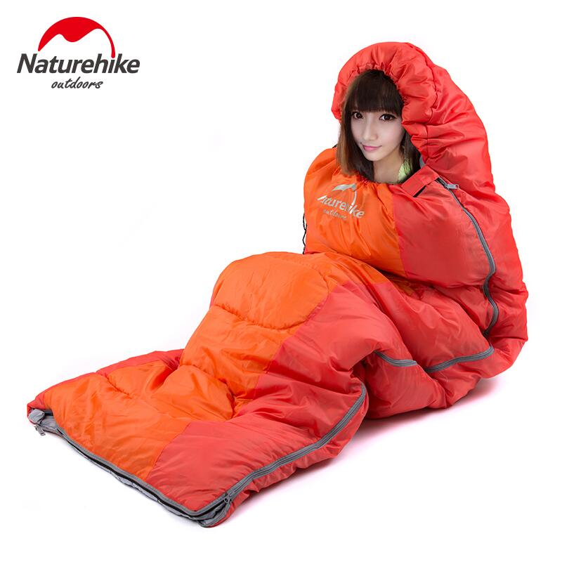 Naturehike Ultralight sleeping bag Adult Outdoor camping Envelope sleeping bag Cotton hiking tourist camping equipment naturehike envelope shaped sleeping bag cotton portable outdoor travel camping hiking sleeping bag for adult with carry bag