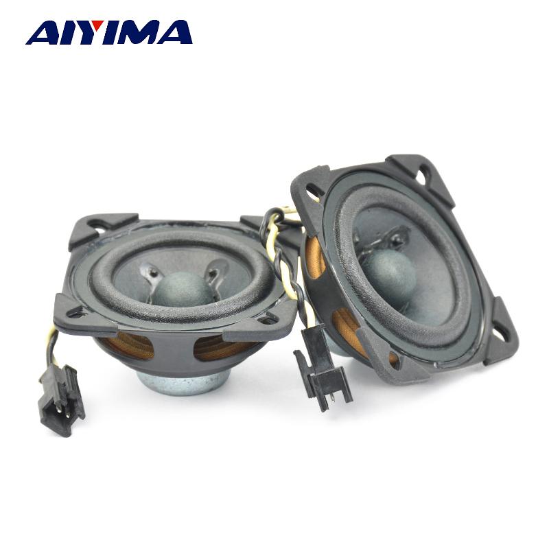 AIYIMA 2 Pcs Audio Tweeter Haut-parleurs Cone Edge Neodymium Magnétique Large Gamme Bluetooth Portable Haut-Parleur 2 Pouces 53MM 4 Ohm 5W