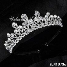 New Crystal Rhinestone Crown Tiara Wedding Prom Bride's Headband wedding hair jewelry bridal accessories head jewelry head piece