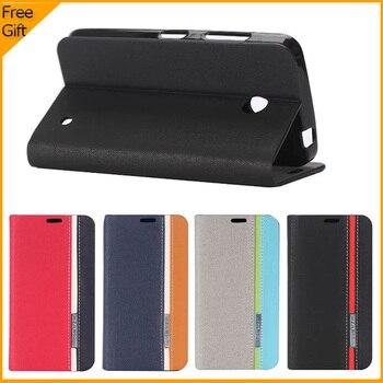 5bc4ab2ed02 Cubierta de cuero retro de lujo del teléfono del tirón para Nokia Lumia 630  635 N630 N635 diseño de la cartera con el soporte de la tarjeta caso