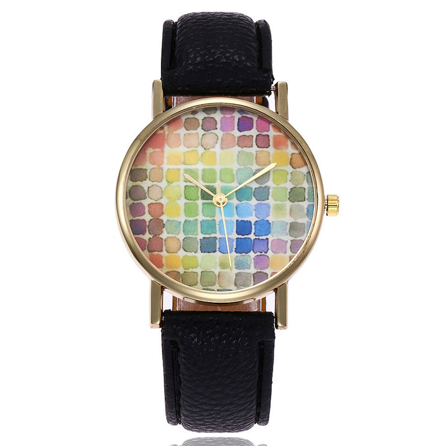 nuevas muestras de la acuarela de la moda reloj ocasional reloj de cuarzo relogio feminino relojes