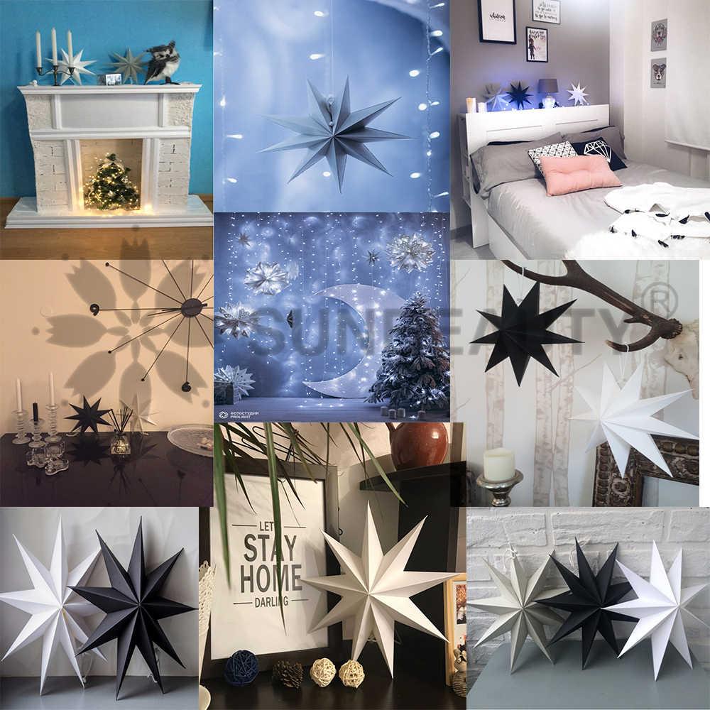 Счастливый новогодний декор 1 шт. 30 см 6 ''скандинавский подвесной бумажный фонарь со звёздами рождественские украшения Счастливого Рождества украшения для дома