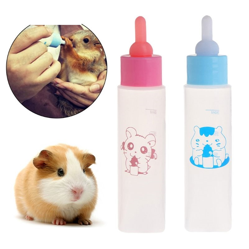 Dog Cat Puppy Pet Milk Bottle 30ml Silicone Short Long Nipple Small Animal Water Feeding Hamster Squirrel Supplies