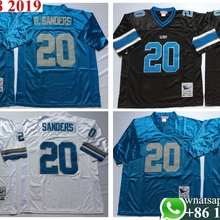 01a1c2ec 100% Stitiched,Detroit ,Barry Sanders Throwback for men 3 colors real photo  Jersey